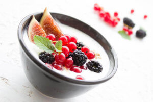 Healthy breakfast idea - fruits salad