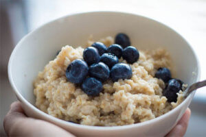 Healthy breakfast idea - oatmeal