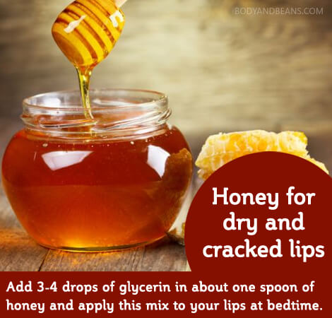 Home Remedy - 2. Honey for dray and cracked lips