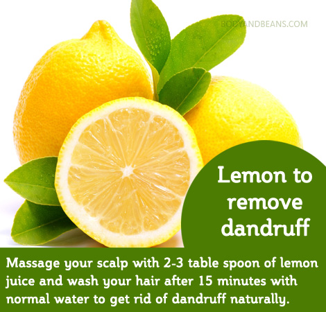 Home remedy to remove dandruf