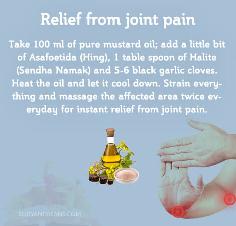 Home remedy for relief from join pain