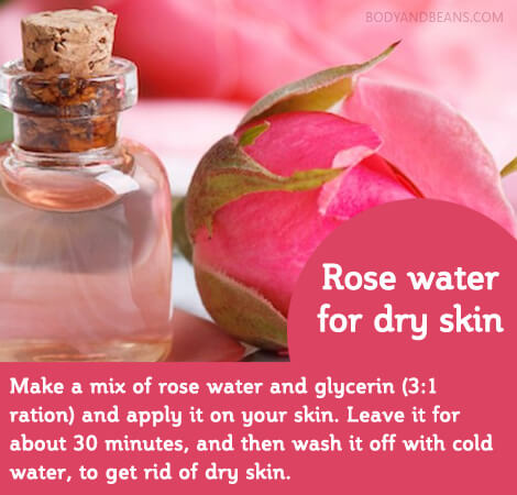 Ayurvedic remedy - 3. Rose water for dry skin