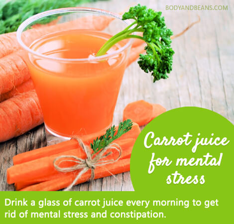 Home remedy - 1. Carrot juice for mental stress