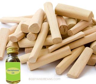 Sandalwood oil massage