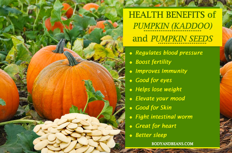 Health Benefits of Pumpkin (Kaddoo) and Pumpkin Seeds