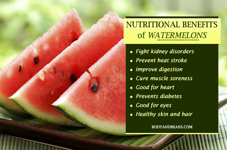 Nutritional Benefits of Watermelons on Your Body, Skin and Hair