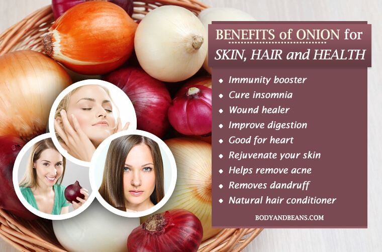 Benefits of Onion and Onion Juice for Skin, Hair and Health