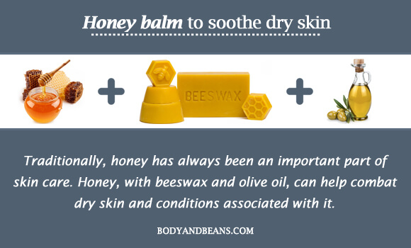 Honey balm to soothe dry skin