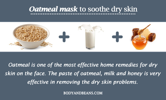 Oatmeal mask to soothe dry skin
