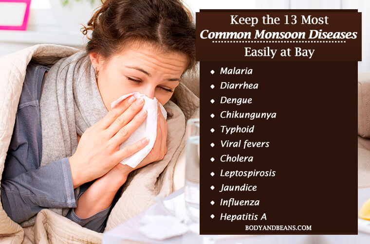 How to Keep the 13 Most Common Monsoon Diseases Easily at Bay