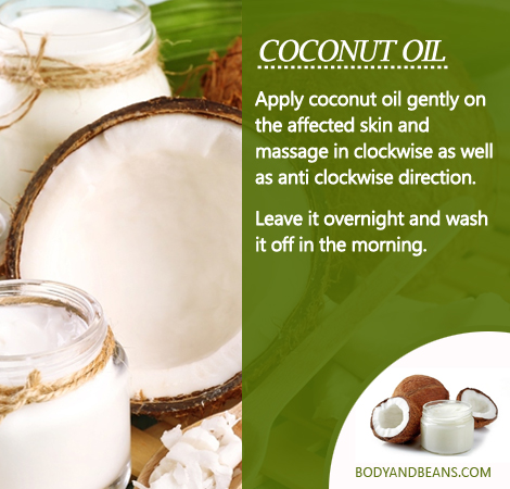 How to use Coconut oil to remove dark circles?