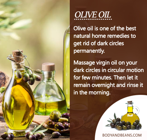 Olive oil can help you to remove dark circles and here's how to use it effectively