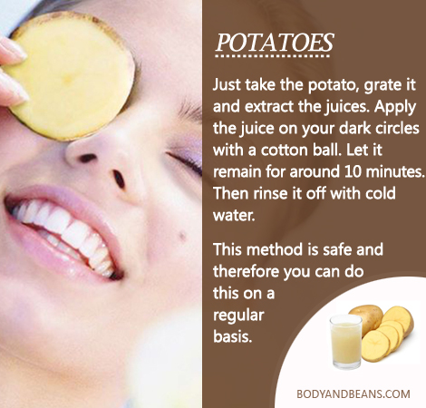 Remedies to Get Rid of Dark Circles: How to use Potato to remove dark circles
