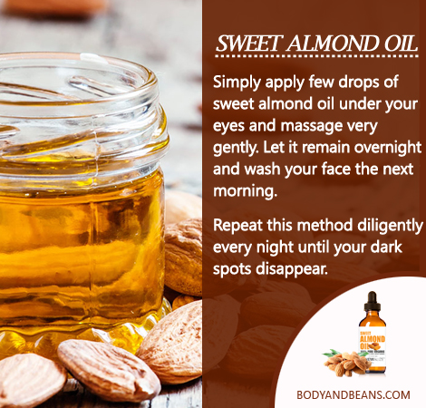 Remedies to Get Rid of Dark Circles: Sweet almond oil can be magical in removing dark circles and here's how to use it