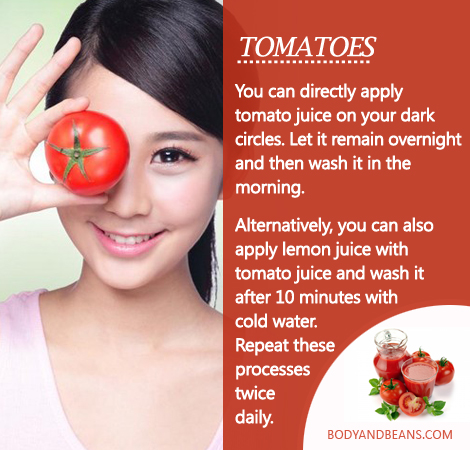 Remedies to Get Rid of Dark Circles: How to use tomatoes to remove dark circles