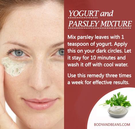 Remedies to Get Rid of Dark Circles naturally: Here's how to use Yogurt and parsley mixture to remove dark circles