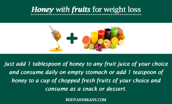 Honey with fruits for weight loss