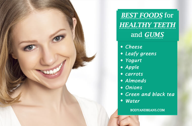 9 Best Foods to Get Healthy Teeth and Gums Naturally