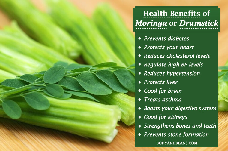 20 Health Benefits of Moringa (Drumstick) Backed By Science