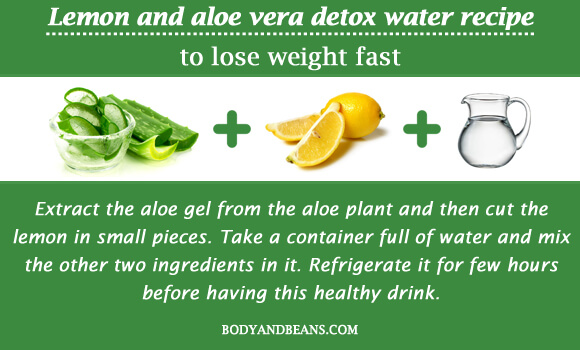 Lemon and aloe vera detox water recipe to lose weight fast
