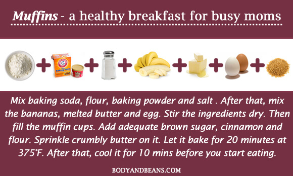 Muffins - a healthy breakfast for busy moms