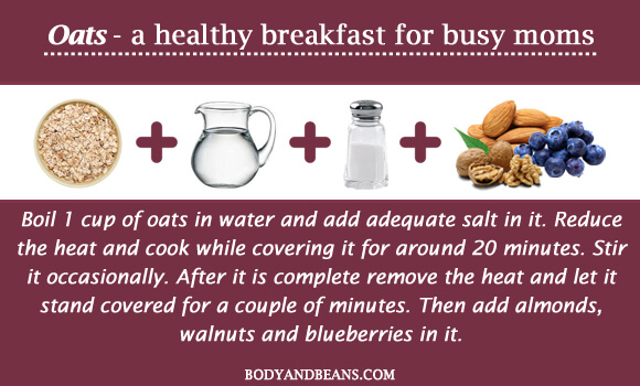 Oats - a healthy breakfast for busy moms