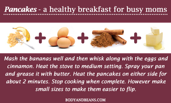 Pancakes - a healthy breakfast for busy moms