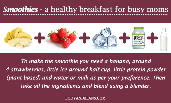 Smoothies - a healthy breakfast for busy moms