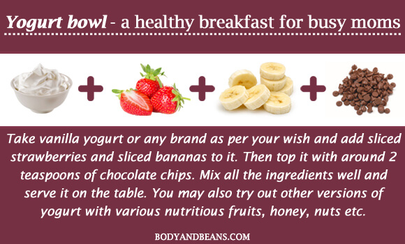 Yogurt bowl - a healthy breakfast for busy moms