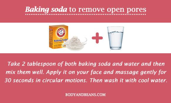 Baking soda to remove open pores