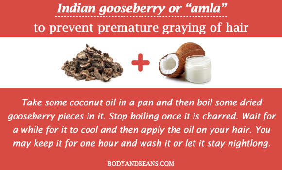 """Indian gooseberry or """"amla"""" to prevent premature graying of hair"""