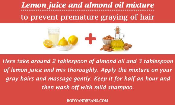 Lemon juice and almond oil mixture