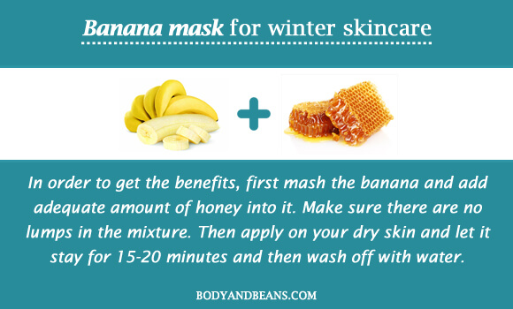 Banana mask for winter skincare