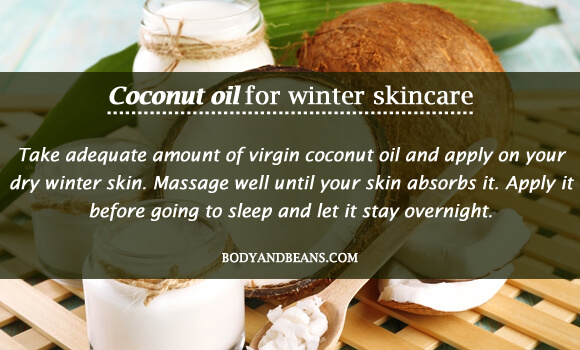 Coconut oil for winter skincare