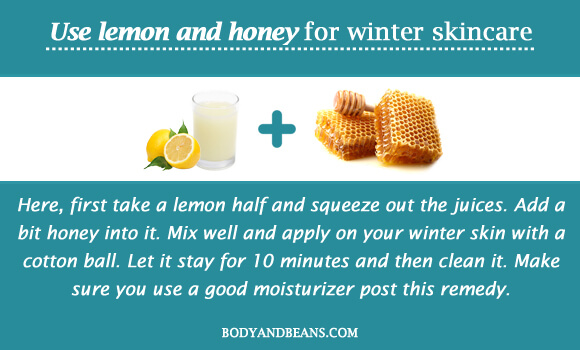 Use lemon and honey for winter skincare