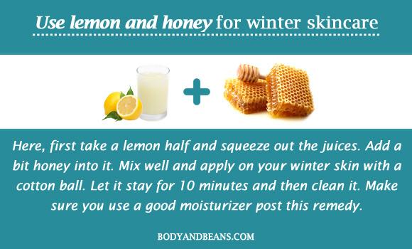 Use lemon and honey for winter skincare