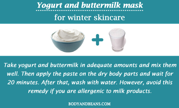 Yogurt and buttermilk mask for winter skincare