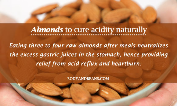 Almonds to cure acidity naturally