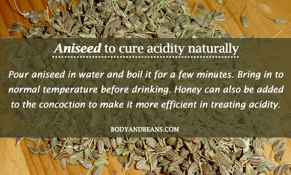 Aniseed to cure acidity naturally
