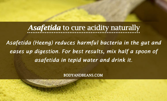 Asafetida to cure acidity naturally