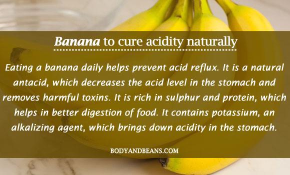 Banana to cure acidity naturally