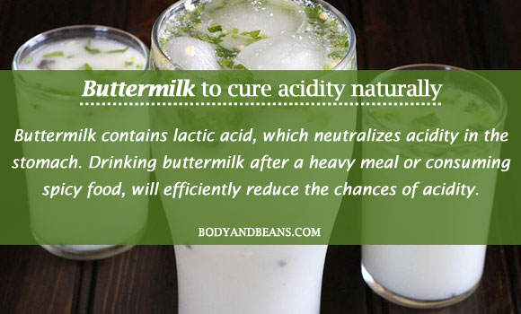 Buttermilk to cure acidity naturally