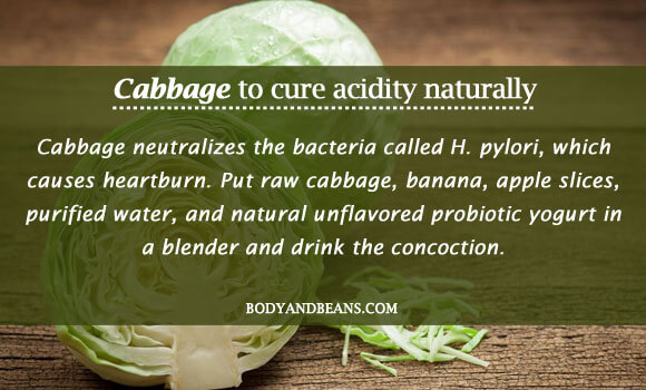 Cabbage to cure acidity naturally