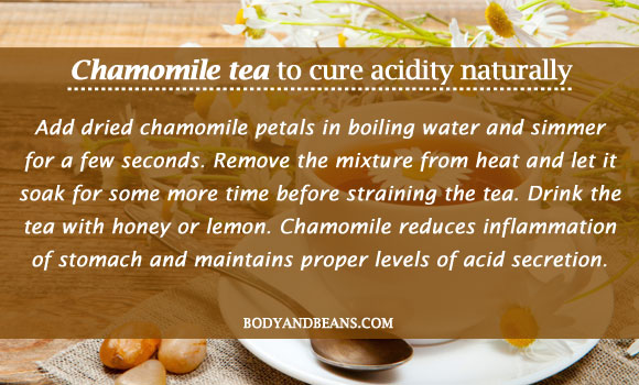 Chamomile tea to cure acidity naturally