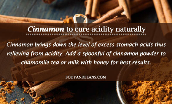 Cinnamon to cure acidity naturally
