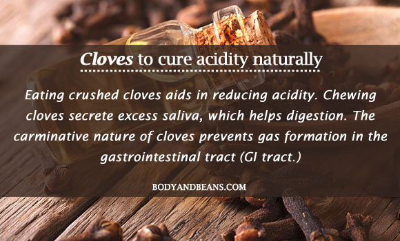 Cloves to cure acidity naturally
