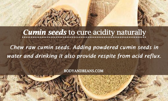 Cumin seeds to cure acidity naturally
