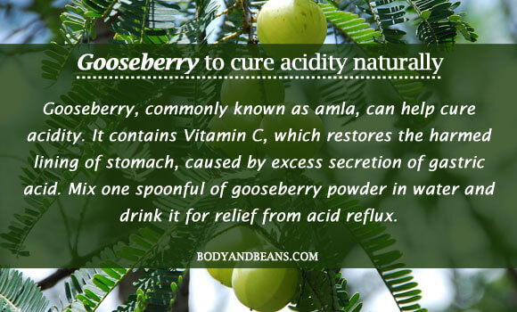 Gooseberry to cure acidity naturally