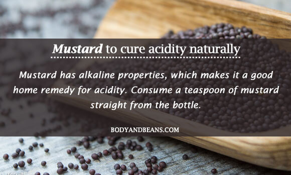 Mustard to cure acidity naturally
