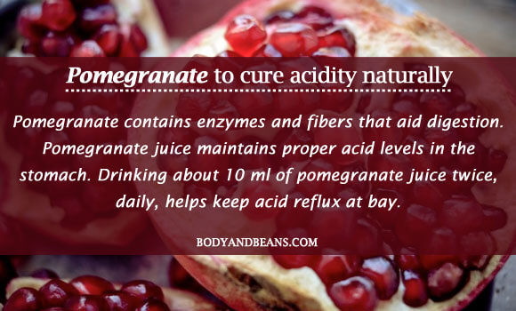 Pomegranate to cure acidity naturally